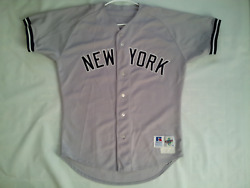 Vintage Rare Russell Athletic 1995 Ny Yankees 36 David Cone Game Worn Jersey