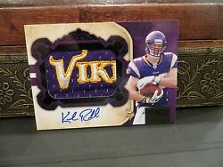 National Treasures Rookie Autograph Jersey Vikings Kyle Rudolph 02/25 2011