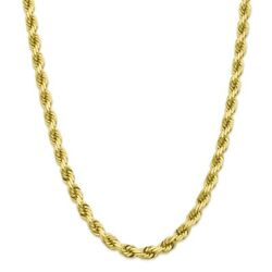 10k Yellow Gold 8mm Link Rope Chain Necklace 22 Inch Pendant Mothers Day Gifts