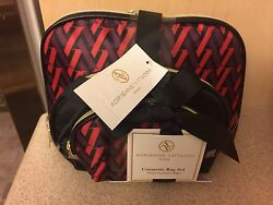 Three Piece Adrienne Vittadini cosmetic vinyl bag set $19.99