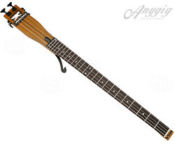 Anygig AGB Full Size Left Hand 4 String Bass Travel Guitar Portable Brown