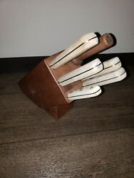 Vintage Occupied Japan 7 Pc Rogers High Carbon Stainless Steel Knife Block Set
