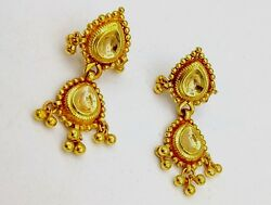 Indian Traditional Stud Earring Tussi Pattern Antique Design Tribal Jewelry