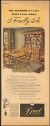 Vintage Ad For Drexel Furniture Company`table Chairs Hutch Art   030818
