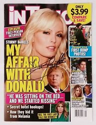 Stormy Daniels Signed Donald Trump In Touch Magazine W/coa Adult Star