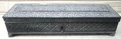 Antique Collectible Wooden Hand Carved Carving Work Pen/pencil Box Storage Box