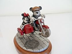 Disney Mickey And Minnie Two Wheeling Get Your Motor Running Pewter Chilmark