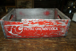 Vintagerc Colaroyal Crown Soda Pop Advertising Wood Crate-carrier-case 1970's