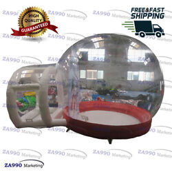 13x5ft Inflatable Christmas Snow Globe Clear Bubble Tent With Air Blower