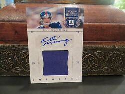 National Treasures Colossal Autograph Jersey Giants Eli Manning 09/10 2011