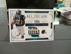 National Treasures All Decade Worn Jersey Chargers Ladainian Tomlinson 1/1 2016