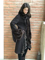 Mink And Shearling Coat/ Dennis Basso Couture