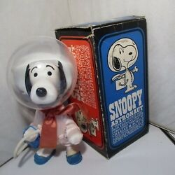 Vintage Snoopy Astronauts Snoopy In Space Suit Figure W/ Original Box Japan Used