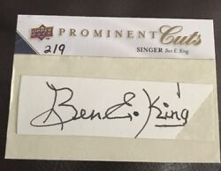2009 Prominent Cuts Ben E. King Auto Autograph Stand By Me Singer 2/9 Sweet