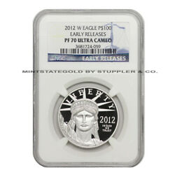 2012-w 100 American Platinum Eagle Ngc Pf70ucam Early Releases Bullion Proof