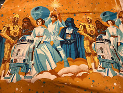 Vintage 1977-78 Sears Star Wars Twin Size Bed Sheet Washed And Folded