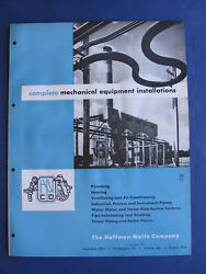 Huffman-wolfe Co Plant Equipment 1953 Catalog Asbestos Pipe