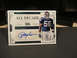 National Treasures All Decade Autograph Giants Lawrence Taylor 1/3 2016