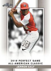 10 Ct Lot 2018 Jerrion Ealy Leaf Perfect Game Nike Aa Classic Aflac Limited-ed S