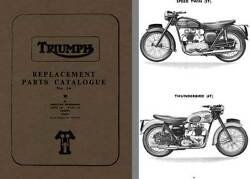 Triumph Replacement Parts Catalogue No. 14 - Speed Twin Thunderbird Tiger 100