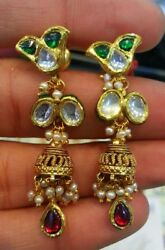 Traditional Antique Jewelry Multi Color Stone Handmade Jewelry Collection India