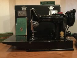 Singer 221-k Featherweight Portable Sewing Machine 1 Owner