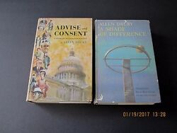 Set Of 2-advise And Consent /a Shade Difference By Allen Drury 1st/1st/2nd Hc/dj