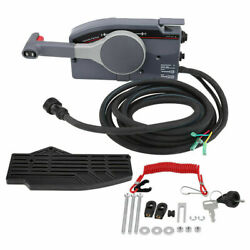 Yatch Boat Outboard Engine Side Mount Remote Control Box + 10 Pin For Yamaha 703