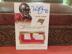 Panini Flawless Gold Autograph Jersey Auto Buccaneers Vincent Jackson 03/10 2014