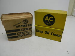 Ac Oil Filters Keep Oil Clean Strorage Box Dispenser And Napkins W/ Oil Test Pads