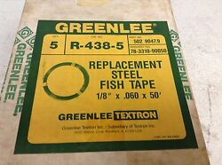 Greenlee R-438-5 Replacement Steel Fish Tape 50' R438-5 R4385 Box Of 5 New