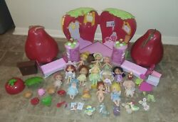 Mixed lot of Strawberry Shortcake Dolls pets and furniture