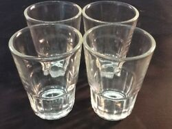 4 pc Shot GlassesGlass BarwareShots WhiskeyTequila Vodka Aguardiente Fun $8.99