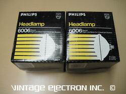 2 Philips 6006 Headlamps - 6 Volt 6v - 59.95/pr Free Shipping Made In Usa