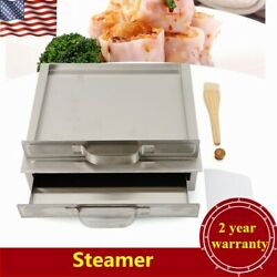 1tier Stainless Steel Steamer Steam Tray Food Steaming Machine Household Kicthen