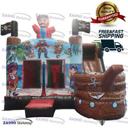 16x13ft Commercial Inflatable Pirate Ship Bounce House And Slide With Air Blower
