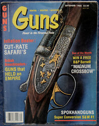 Magazine *GUNS* September 1980 FIGHTING KNIVES for Combatant amp; Collector