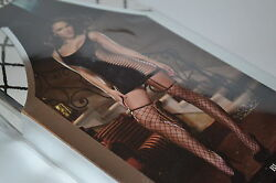 Dreamgirl Opaque And Fence Net Garter Dress W/ Attached Thigh High Stockings Black