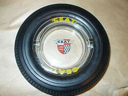 Large Ceat Tire Ashtray Made In Italy 7 Across