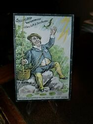 1880s Trade Blotter Card Donaldson Bros. Five Points Ny Celluloid Cuffs Fishing