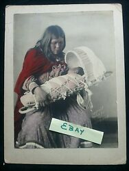 Indian Native American Antique Photograph Wm Weed Mother Nursing Baby