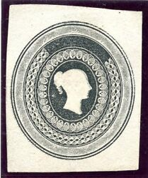 1840 Essay By Whiting For Postal Stationery Queens Head To Right.