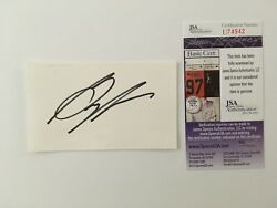 Greg Moore Signed Autographed 3x5 Card Jsa Certified Cart