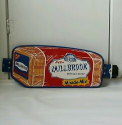 Vintage Rare Nabisco Millbrook Enriched Bread Door Push Country Store Sign