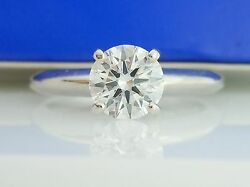 Ags Certified .67ct H/vs1 Round Diamond Ring Same Company Hearts On Fire Uses