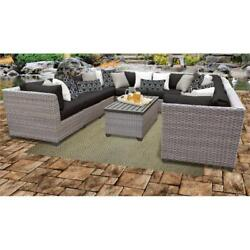Florence 11 Piece Outdoor Wicker Patio Furniture Set 11a In Black