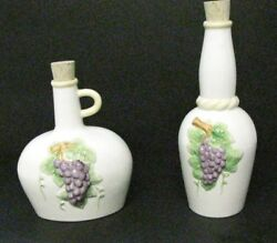 2 -jay Willfred Of Andrea By Sadek White / W Grapes Jugs With Corks
