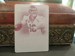 National Treasures Printing Plate Broncos Peyton Manning One Of One  1/1 2013