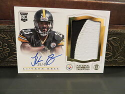 National Treasures Autograph Rookie Jersey Steelers Leand039veon Bell 39/49 2013