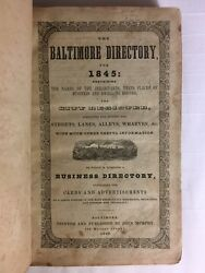 Very Rare 1845 Baltimore Maryland Directory, Colored Negro Households, Local Ads